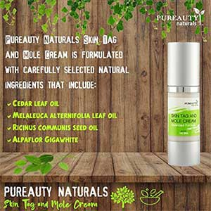 Pureauty Naturals Skin Tag and Mole Removal Cream