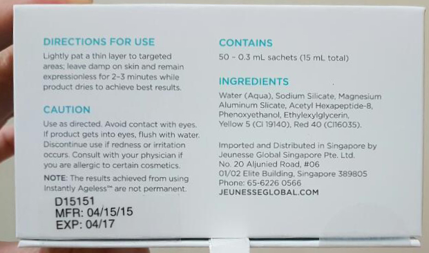 instantly ageless ingredients
